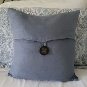 Two Pottery Barn Blue Pillow Covers